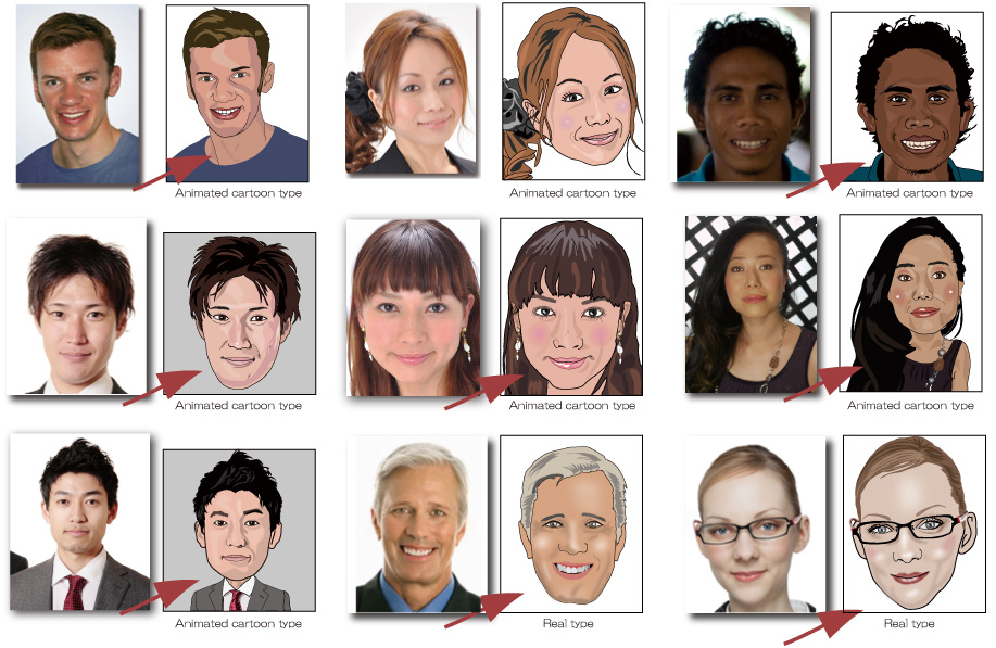 Caricature examples - digital caricature Australia